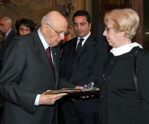 Foto Mariella con il Presidente Napolitano