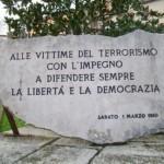 lapide vittime terrorismo