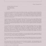 lettera dionisi al ministro maroni 20 gennaio 2010